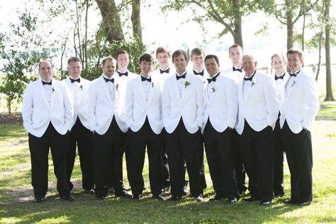 white dinner jackets for the men | Jared Lister #wedding