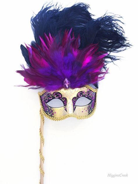 Fetish Victorian Steampunk Bridal Rhinestone Pink Feather Mask /'Carnival Queen/' Masquerade Venetian Wedding Mardi Gras