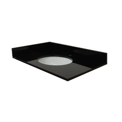 Photo Gallery On Website NGY Stone u Cabinet Single Bathroom Vanity Top Top Finish Absolute Black