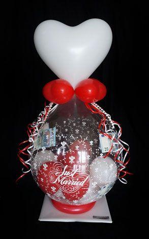 Ballon Just Married Luftballon Geschenk Uberraschung Hochzeit