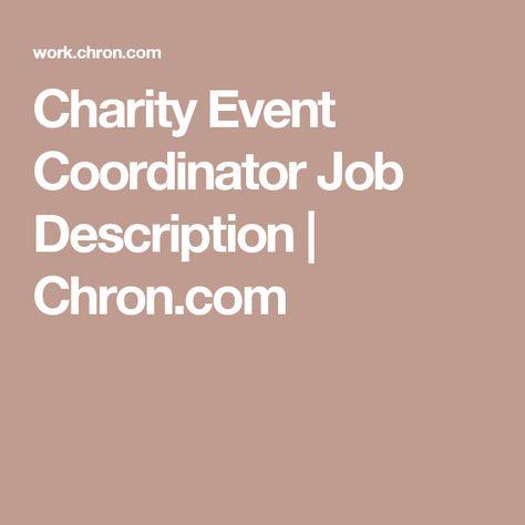 Best  Event Coordinator Job Description Ideas On