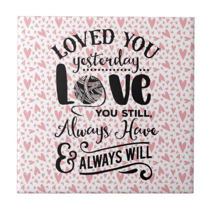 Love quote ceramic tile - love quote quotes gift idea diy special ...
