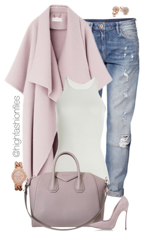 """Soft Palette"" by highfashionfiles ❤ liked on Polyvore featuring H&M, Rick Owens, Givenchy, Casadei, GUESS and Hervé Léger"