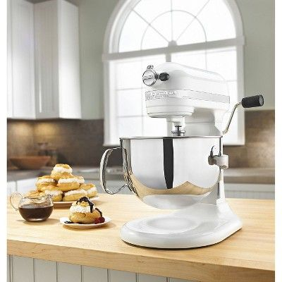 KitchenAid Professional 600 Series 6 Quart Bowl Lift Stand Mixer   KP26M1X,  White