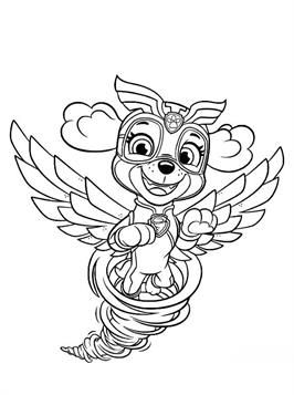 Nice Coloring Page Skye In Tornado On Kids N Fun Paw Patrol Coloring Paw Patrol Coloring Pages Cool Coloring Pages
