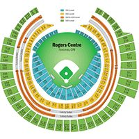 Rogers centre toronto blue jays seating chart rogers centre
