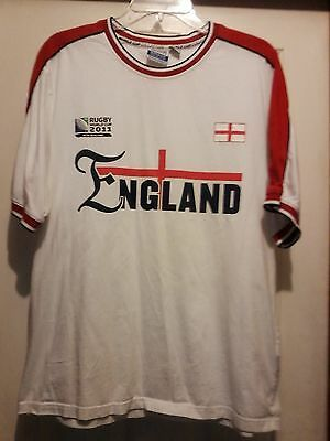 England Rugby World Cup 2011 T Shirt Size L Official World Cup Collection Fashion Sports Mem Cards Fan Shop Fanapparels In 2020 England Rugby Shirt T Shirt