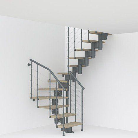 Escalier Quart Tournant Milieu Métal