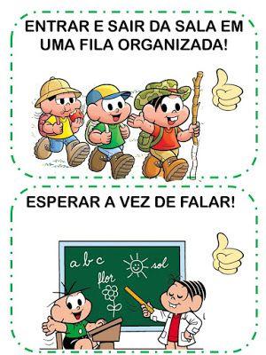 Combinados Turma Da Monica Em 2020 Rotina Na Educacao Infantil