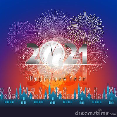 Happy New Year 2021 With Firework Background Firework Display Colorful For Holidays In 2020 Happy New Year Pictures Happy New Year Fireworks Happy New Year Images