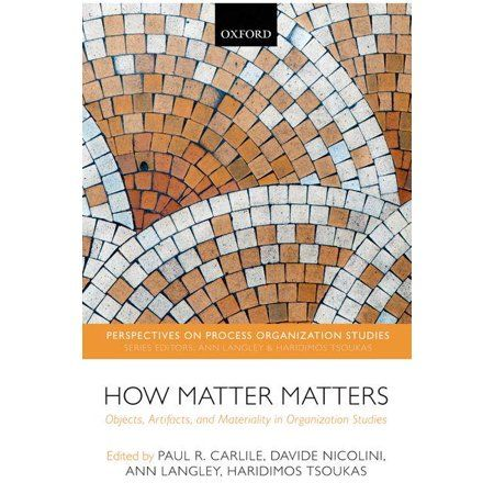 Perspectives On Process Organization Studies How Matter Matters Objects Artifacts And Materiality In Organization Studies H In 2021 Book Display Objects Artifacts