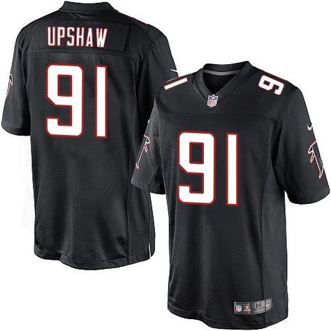 c5691ad0f67 Youth Nike Atlanta Falcons  91 Courtney Upshaw Limited Black Alternate NFL  Jersey