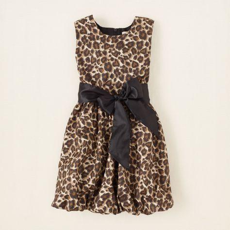 girl - dresses - leopard bubble dress | Children's Clothing | Kids Clothes | The Children's Place
