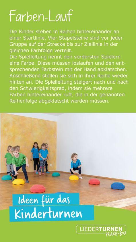Farben Lauf Farbenlauf Turnen Mit Kindern Turnen Im Kindergarten