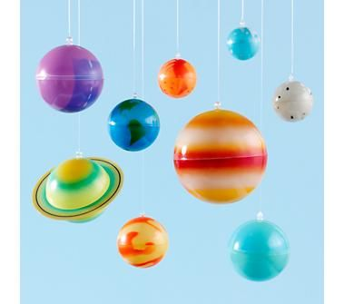 Aaron 39 s new room on pinterest solar system outer space - Hanging planets decorations ...