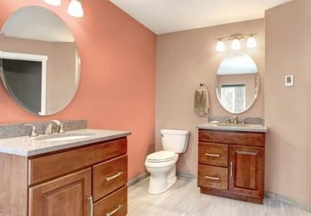 67 Ideas Bath Room Colors Coral Brown For 2019 Coral Bathroom Brown Bathroom Green Bathroom