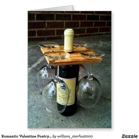 Party of Four hardwood rack for wine bottle and four glasses. Salvaged wood or DIY Glass Holders, Bottle Holders, Bottle Rack, Beer Bottle, Wooden Wine Bottle Holder, Cork Holder, Diy Bottle, Vodka Bottle, Homemade Gifts