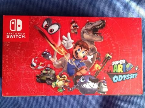 Nintendo Switch Super Mario Odyssey Limited Edition Red Joy