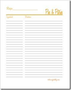 blank recipe sheets timiz conceptzmusic co