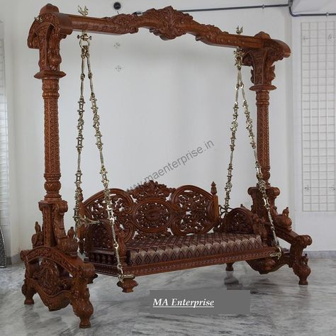 Indian Wooden Jhula for Home