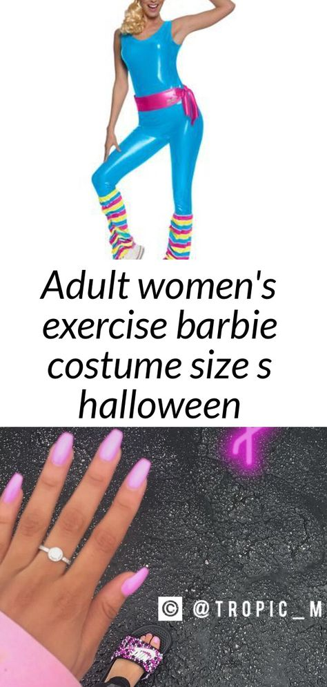 Adult women's exercise barbie costume size s halloween multi-colored
