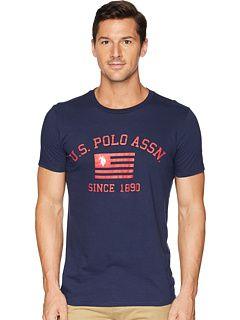 U.S Mens Blue Collection: 3 Pack Cotton Crew Neck Polo Assn. POLO ASSN
