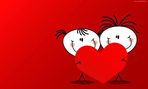 Walentynki, Chłopiec, Dziewczyna, Serce