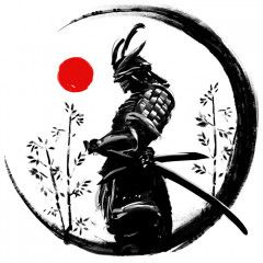 Illustration Of A Japanese Warrior In An Ink Circle With A Red Sun Wall Mural, Premium Canvas Wall Murals for Residential and Commercial Use, from Limitless Walls. Standard self adhesive peel and stick fabric wall art, custom sizing is available. Variety of easy install fabrics and finishes to choose from. Personalize any space with beautiful abstracts, photography, and more. Samples available upon request and free shipping to the US and Canada, plus a risk free return policy. Warrior Tattoo, Warrior Drawing, Japanese Artwork, Warrior Tattoos, Japanese Drawings, Samurai Artwork, Japanese Tattoo Art, Art, Japanese Warrior Tattoo