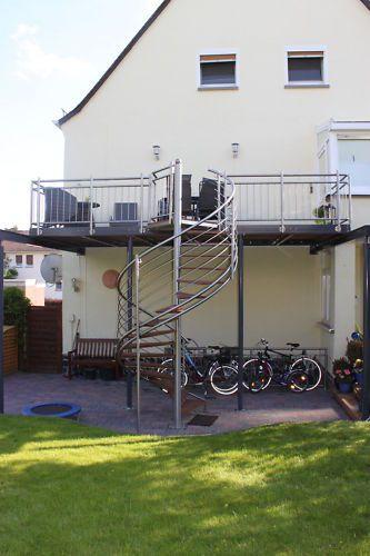 Top Balkon Anbaubalkon Verzinkt + Wendeltreppe Edelstahl | Heimwerker CE63