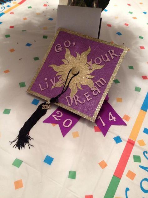 Rapunzel Tangled Graduation Cap -  - #decoration