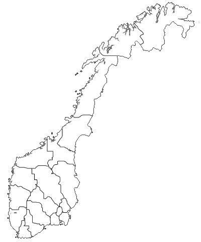 Norgeskart fylker