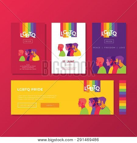 Support For Lgbtq Pride Colorful Backgrounds Peoples Silhouette