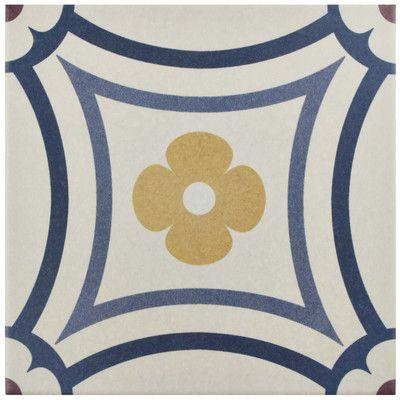 Merola Tile Caprice Saint Tropez Encaustic in. Porcelain Floor and Wall Corner - The Home Depot