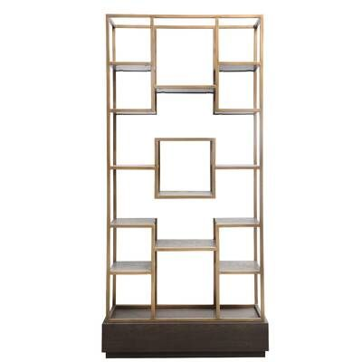 Harrison Geometric Bookcase With Images Moe S Home Collection