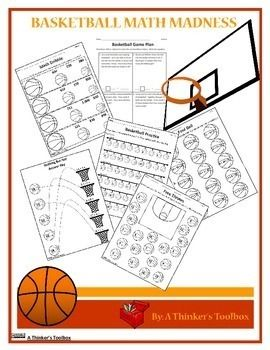 Basketball Math Madness Worksheets Basketball Math Math Madness Math