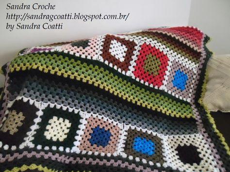 SANDRA CROCHE: Manta de crochet