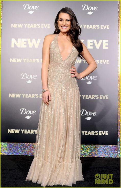Lea Michele New Year S Eve Premiere With Ashton Kutcher Lea