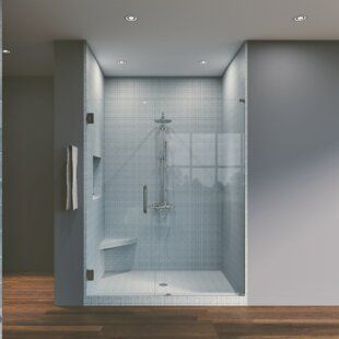 Aston Coraline Xl 48 W X 80 H Single Sliding Frameless Shower Door Wayfair In 2020 Shower Doors Frameless Shower Doors Frameless Shower