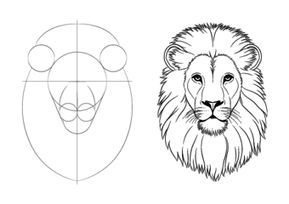 How To Draw Lion Face Head Step By Step Lowe Zeichnen Lowenkopf Zeichnen Lowen Malen