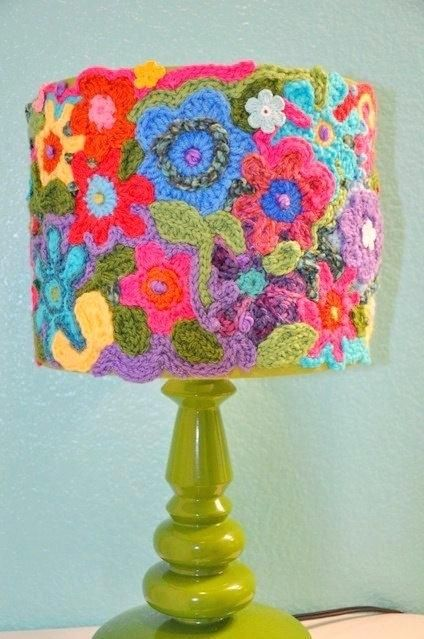 Funky Lamp Shades Lamp Shade Crochet Handmade One Of A Kind Made To Order Super Cute Original Funky Lamp Shades Onli Crochet Lamp Crochet Lampshade Funky Lamps