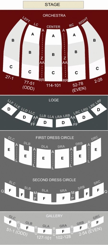 Amazing Fox Theater Interactive Seating Chart Di 2020