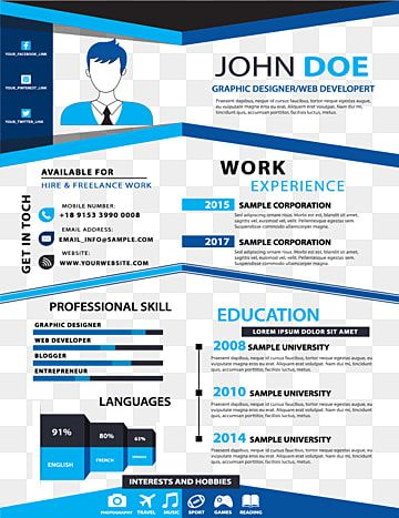 Blue Creative Resume Templates Blue Creative Data Chart Png And Vector With Transparent Background For Free Download In 2020 Creative Resume Templates Creative Resume Creative Resume Template Free