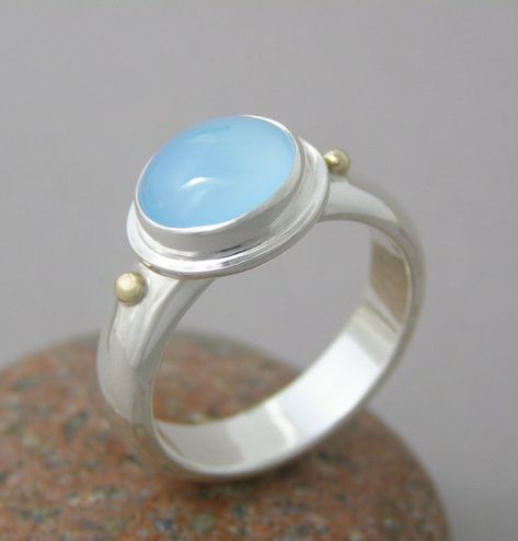 Blue Chalcedony 10mm Square Faceted 925 Sterling Silver Plated Bezel Ring