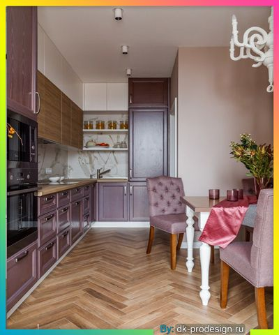 دواليب مطبخ لون ارجواني Purple Kitchen Purple Kitchen Cabinets Kitchen