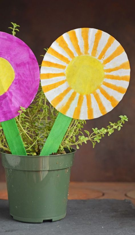 Cupcake Liner Flower Kid's Craft