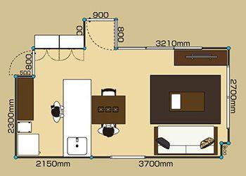 家具のレイアウト例 A Flat その暮らしに アジアの風を レイアウト 家具のレイアウト 10畳 レイアウト