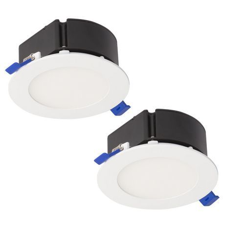 Bazz Top Box Slim 4 In Matte White Integrated Led Recessed Fixture Kit 2 Pack White Recessed Lighting Modern Recessed Lighting Led Recessed Lighting