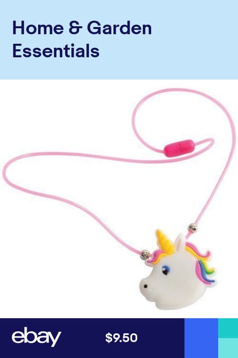 12 Flashing Light Up Unicorn Necklaces Princess Party Goody Bag Favor Supply