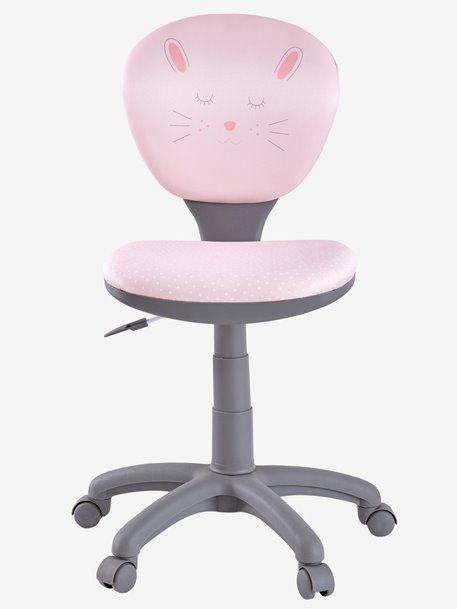 Chaise De Bureau Primaire A Roulettes Rose Vertbaudet Chaise Bureau Bureau Fille Roulette