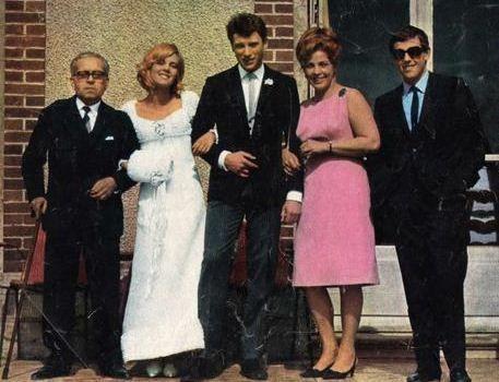 sylvie johnny mariage 1965
